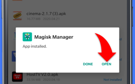 Launch Magisk Manager