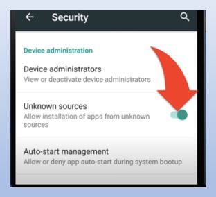 Unknown Sources on Android