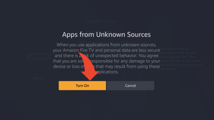 Turn on Unknown Sources in Firestick